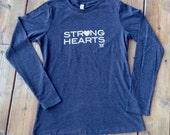 Large - Strong Hearts Long Sleeve tshirt - Wmn