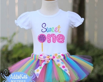 Personalized Lollipop Sweet One First Birthday Tutu Outfit