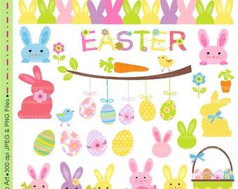 SALE Easter clip art ,Easter digital clip art ,M.68 Easter bunny clip art, Invitations, Card Making, rabbit clip art