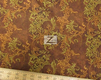 """Flourish By South Sea Imports 100% Cotton Fabric - 108"""" Width Sold By The Yard (FH-853)"""