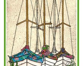Sailing Travel Poster