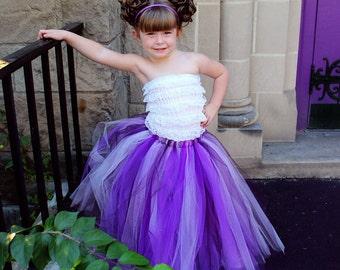 Full Length Purple Tutu Skirt Long