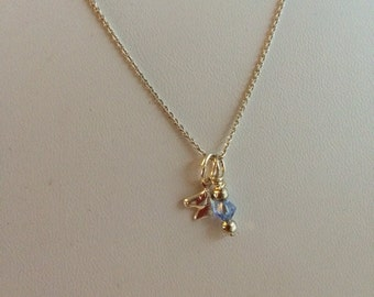 Sterling Silver Horse Charm Necklace.
