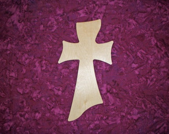 "Unfinished Wood Cross Wooden Crosses 11"" Inch Tall Paintable Stainable Crafts Part MC11-000"