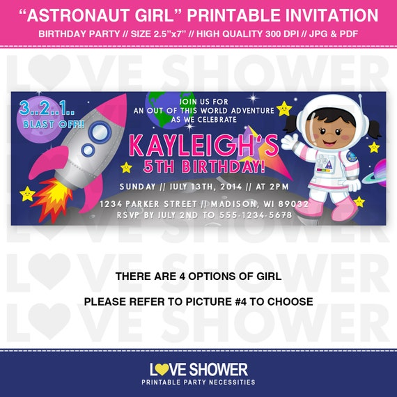 astronaut invitations - photo #21