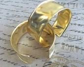 """Raw Brass Cuff Bracelet Hammered Textured 1""""  - QTY 1"""
