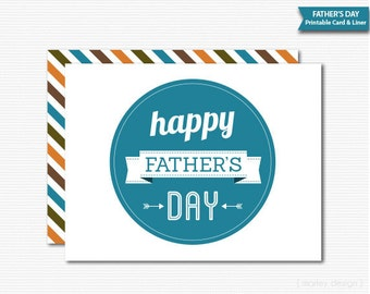 Fathers Day Card Step Father Card Step Dad Card Step-Father Card Step-Dad Card Modern Simple Classic Printable Minimalistic Instant Download