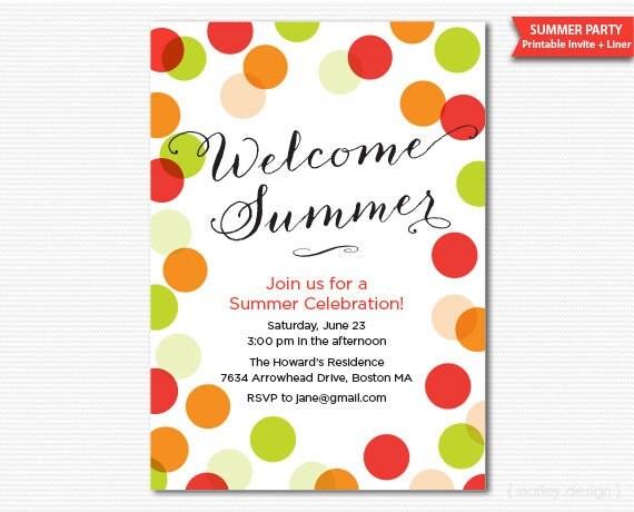 sommerfest einladung sommer einladung druckbare einladung, Einladung