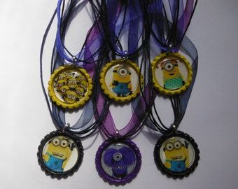 Minions Party Favor Necklaces.. Minions Necklaces..Party Favor.. Necklaces Party Favor