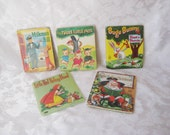 Collection of childrens books, Three little pigs, Bugs Bunny, Milkman bill, Little red riding hood, Night before Christmas