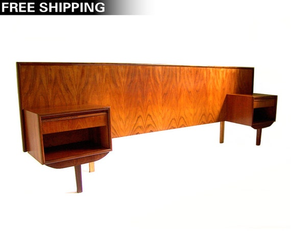 Items similar to reserved vintage danish modern teak Danish bedroom furniture