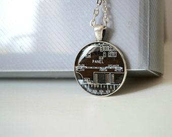 Geek Jewelry - Black Tech Necklace - Computer Jewelry - Gothic - Geekery Nerdy - Dark - Minimalist - Circuit Board Jewelry