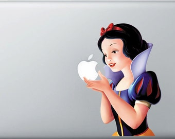 Snow White Macbook Pro Decal Macbook Air Decals Apple Macbook Decal Apple Sticker for macbook Air Pro