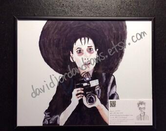 Lydia Deetz Beetlejuice orginal watercolor print