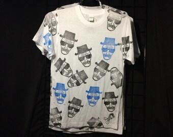 Breaking Bad Heisenberg Walter White hand printed t shirt