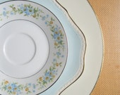 Mismatched China Dinnerware: Mixed pattern place setting, vintage plates, wedding centerpiece, set M6