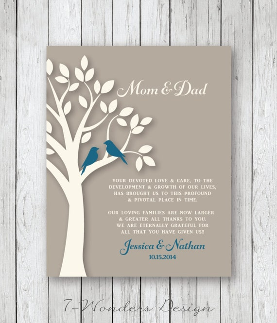 Wedding Gift for Mother of the Groom, Mother of Bride, Brides Parents ...