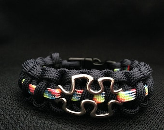 Austism Awareness Bracelet (custom color and size)