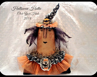 Primitive E Pattern Halloween Hattie Witch Click Your Heels