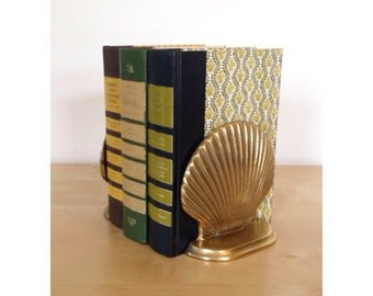 Brass Seashell Bookends