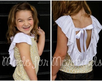 Girls Ella Knit Top PDF Sewing Pattern Sizes 1/2-14