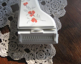 Creazioni Original Ceramic Piano Box Floral Design