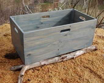 Wood Crate/ Storage Bin/ Kids Room/ Crate with Wheels/ Looney Bin