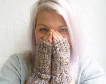 Sale Hand Knit Fingerless Gloves for Women, Alpaca Merino Wool Wristwarmers, Cycling Gloves, Clickclackknits