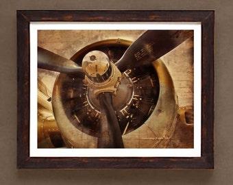 "Fine Art Print: -  ""Vintage WWII Airplane Prop"" -8"" x 10"" print  - Historic Aircraft print, Aviation art"