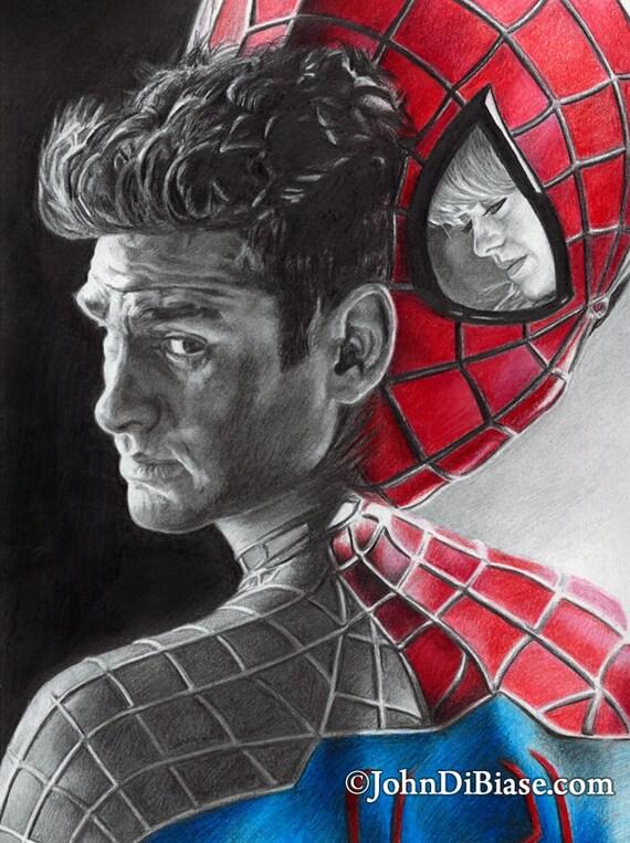 Imprimer dessin de andrew garfield comme spider man et peter - Dessin anime spider man ...