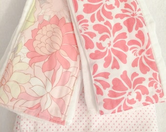 Floral Prints Burp Cloth/Blanket Set