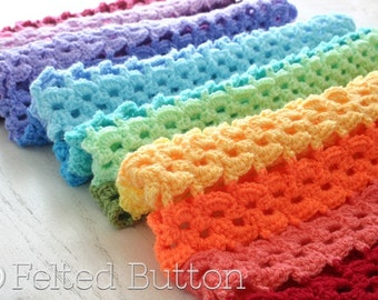 Crochet Pattern, Pansy Parade Blanket, Afghan, Blanket