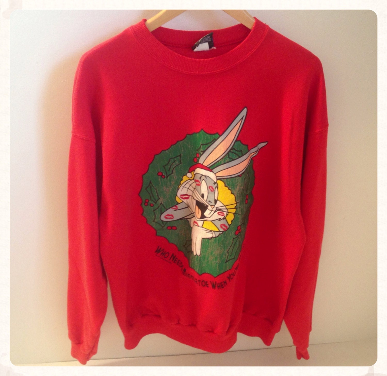 Vintage 1990s Bugs Bunny Christmas Sweater By Asecondhandshop