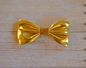 All That Glitters and Gold Hair Bow- Large Hair Bow
