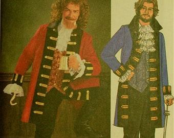 Pirate Captain Costume Butterick Pattern 3894  Uncut  Sizes XS-S-M, L-XL