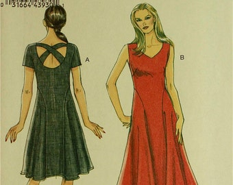 Dress, Back Strap Detail - 2010's -  Vogue Pattern 8726 Uncut   Sizes 18-20-22-24  Bust 40-42-44-46""