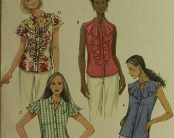 """Bouse Set, Ruffle Options - 2010's -  Butterick Pattern 5464  Uncut   Size 14-16-18-20  Bust 36-38-40-42"""""""