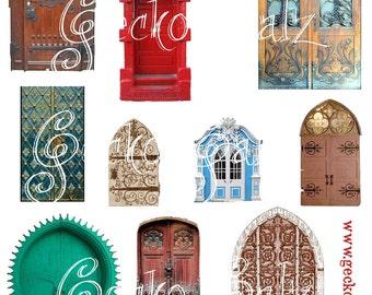 Behind Door #1 Digital Collage Sheet