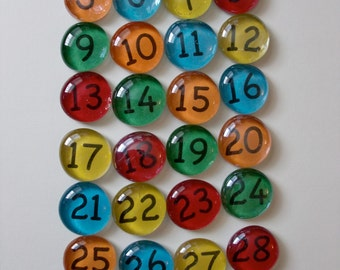 Number Magnets:  Crayola