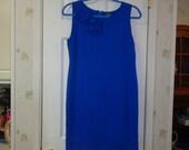 Vintage Cobalt Blue Urban Dress
