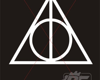 Harry Potter Deathly Hallows Vinyl Decal / Sticker