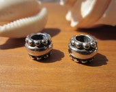 10pcs 4mm hole  High quality slider spacer finding silver plated for leather cords