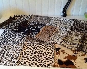 Soft, Luxurious Minky Safari Lap Quilt
