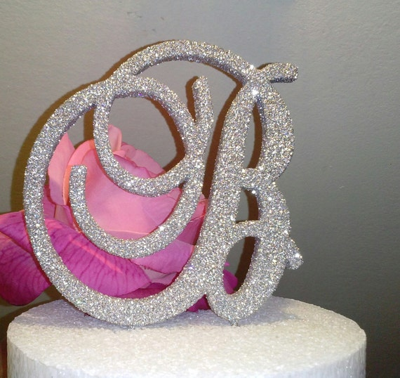 sparkle wedding cake toppers monogram cake topper 6 inch glitter bling cake by itsinglitter 20305