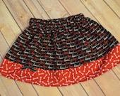 Baby girl/ toddler girl skirt- Red, pink, black Heart/Love/ Valentine's skirt- Size NB-9