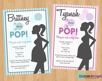 Personalized POP Baby Shower Custom Invitations Printable