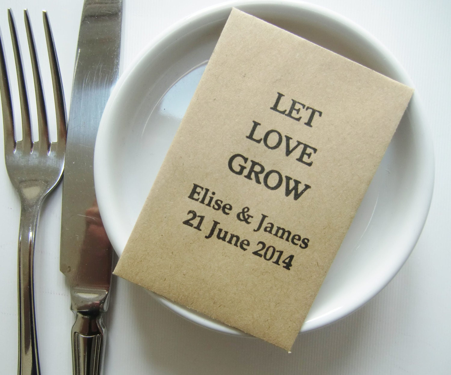 Seed Packet Wedding Favors LET LOVE By IzzyandLoll On Etsy