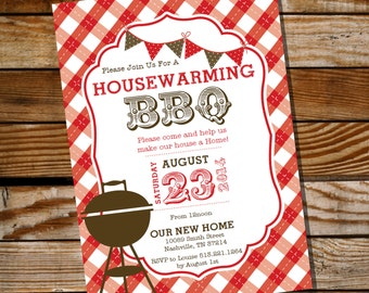 Housewarming BBQ Invitation - Housewarming Party - Housewarming BBQ - Instantly Downloadable and Editable File - Print at Home!