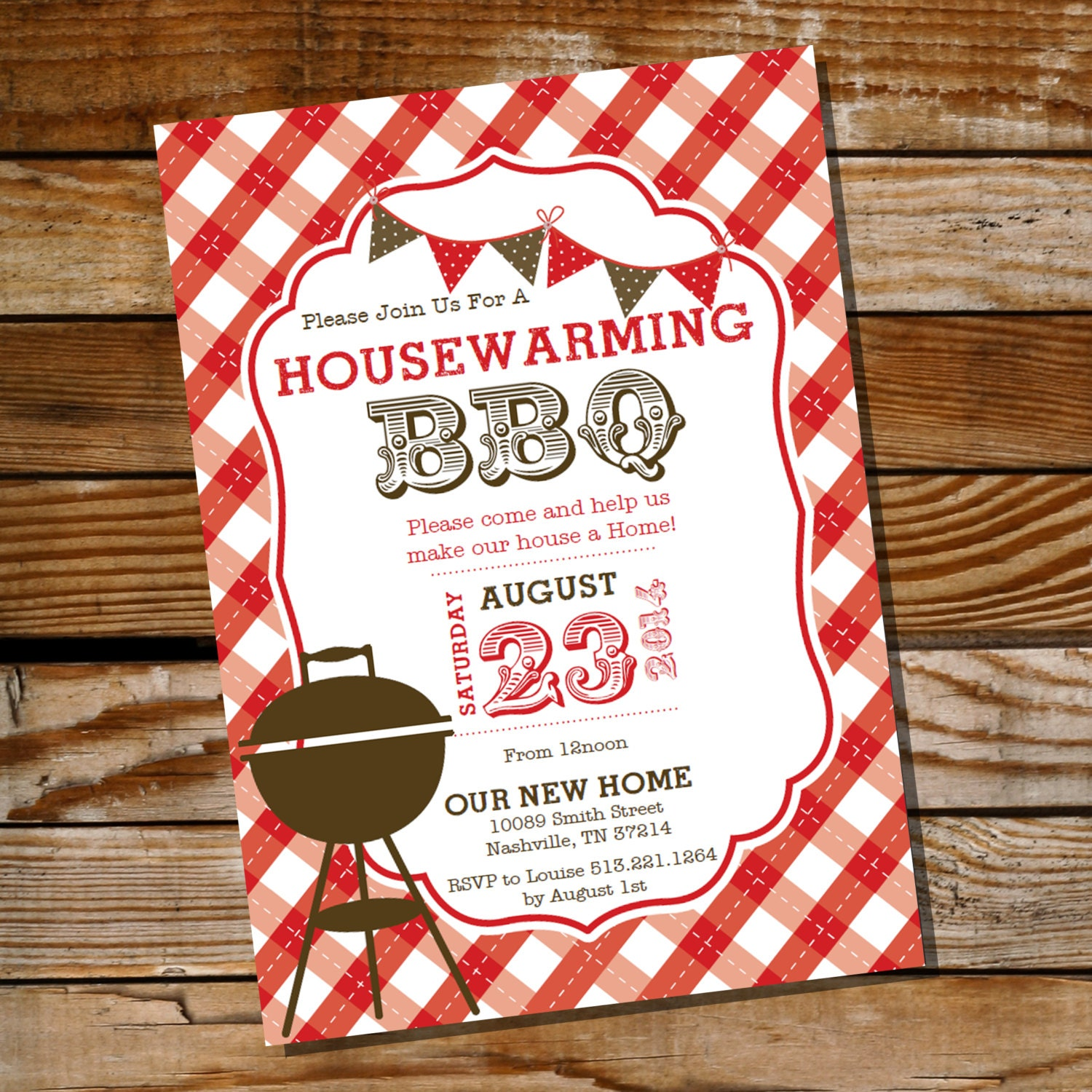 housewarming bbq invitation housewarming party. Black Bedroom Furniture Sets. Home Design Ideas