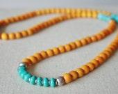 Yellow & Turquoise mala //